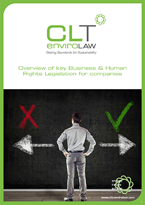 Overview of key business and human rights legislation