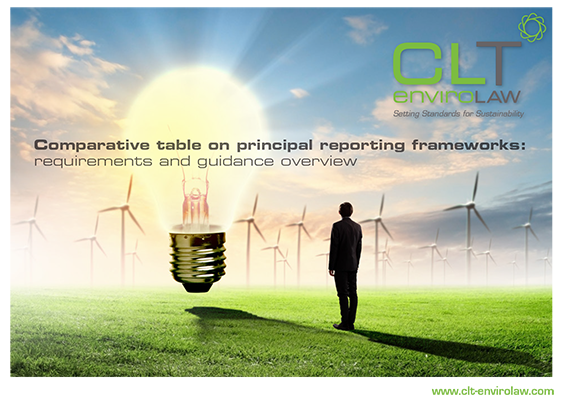 Comparative table on principal reporting frameworks