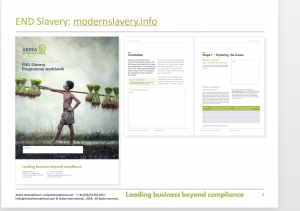 workbook, elearning, modern slavery