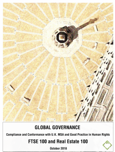global governance, modern slavery, league table