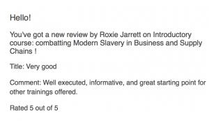 Ardea international modern slavery e-learning review