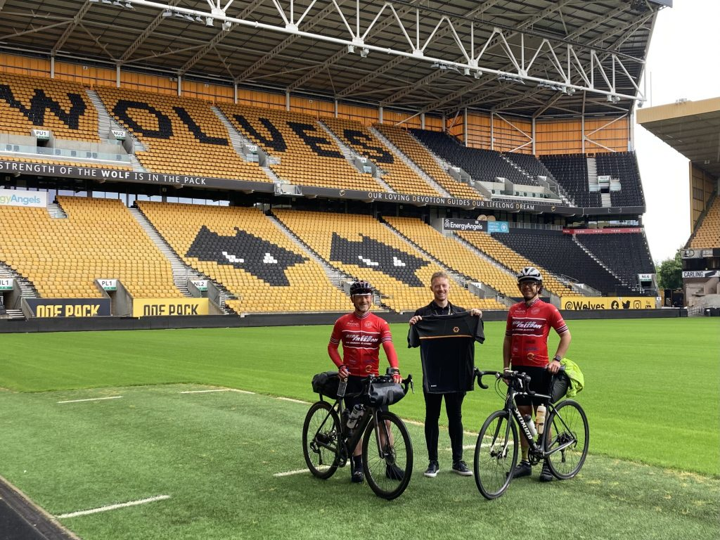 Ride for Freedom team at Wolves